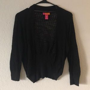 Knitted black sweater